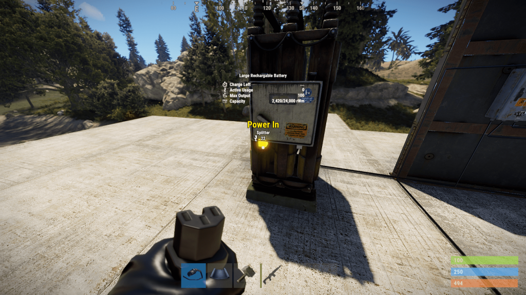 Подача энергии на аккумулятор в Rust