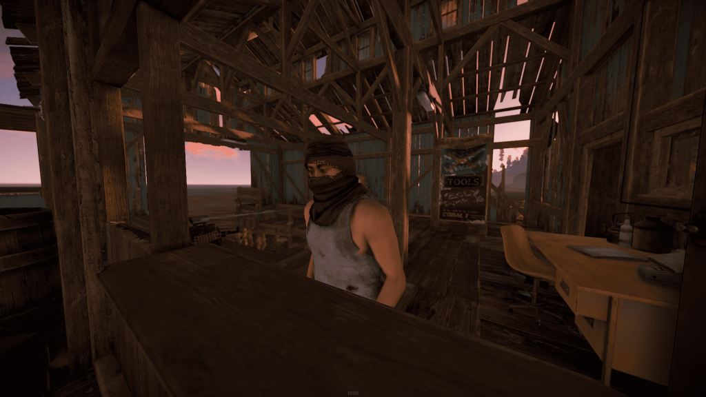 Торговец в рыбацкой деревне в Rust