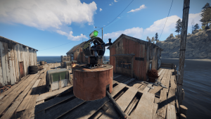 Турели в рыбацкой деревне в Rust