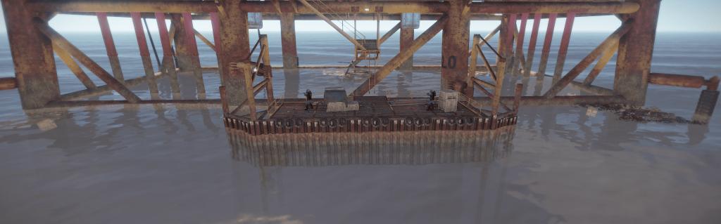 Нулевой уровень большой нефтяной вышки в Rust