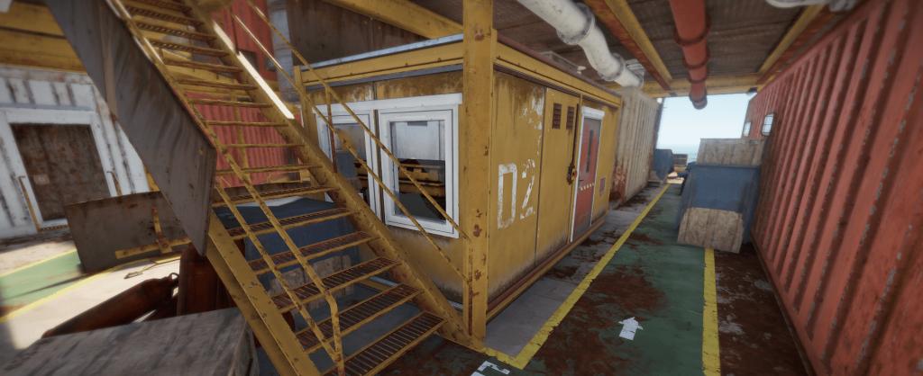 Переработчик на большой нефтяной вышке в Rust
