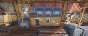Помещение на 3 уровне большой нефтяной вышки в Rust