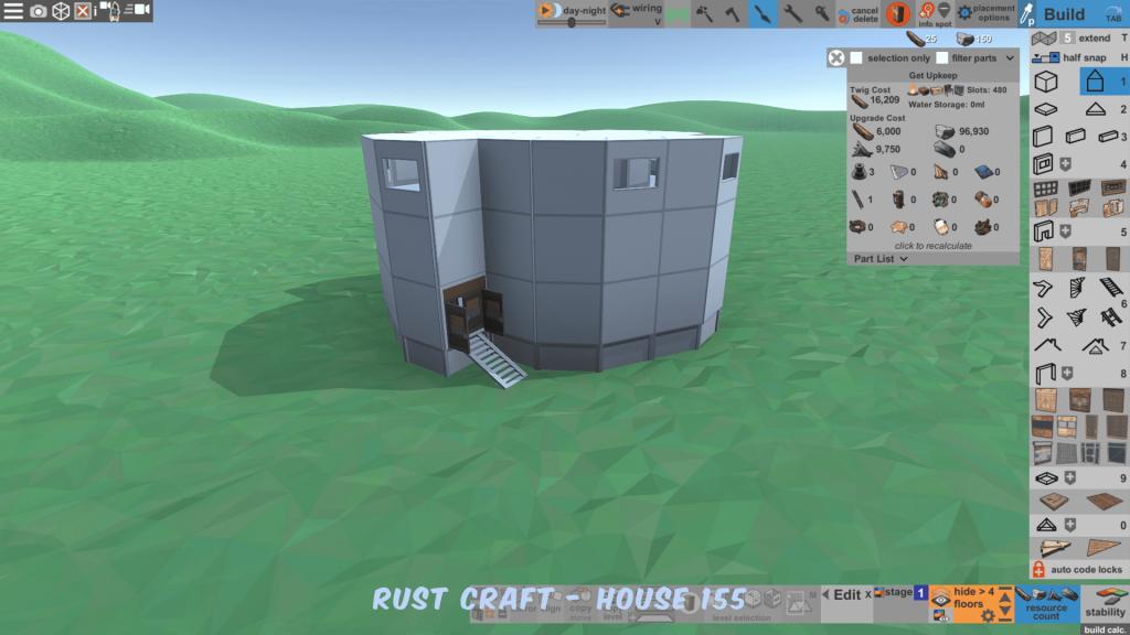 Стоимость улучшения дома Spin2 в Rust