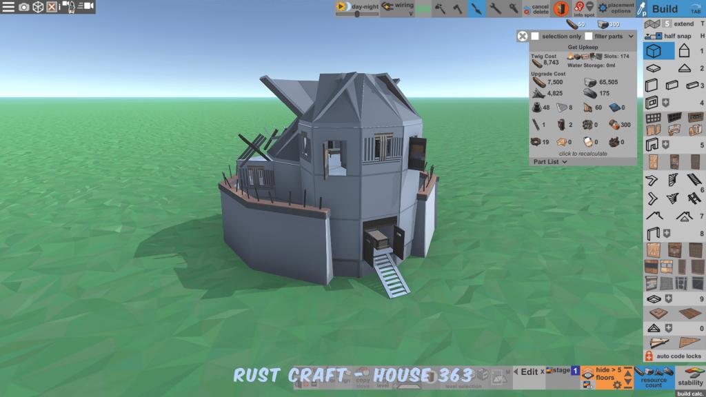 Стоимость улучшения дома Fortress4 в Rust