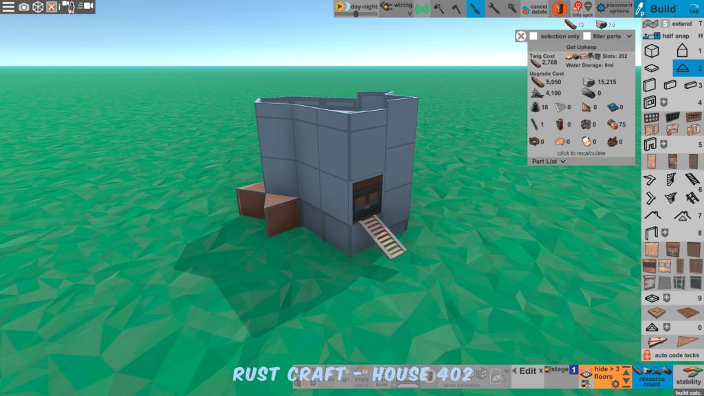 Стоимость улучшения дома Furn5 в Rust