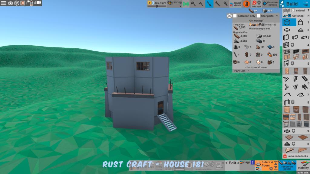 Стоимость улучшения дома Startup4 в Rust