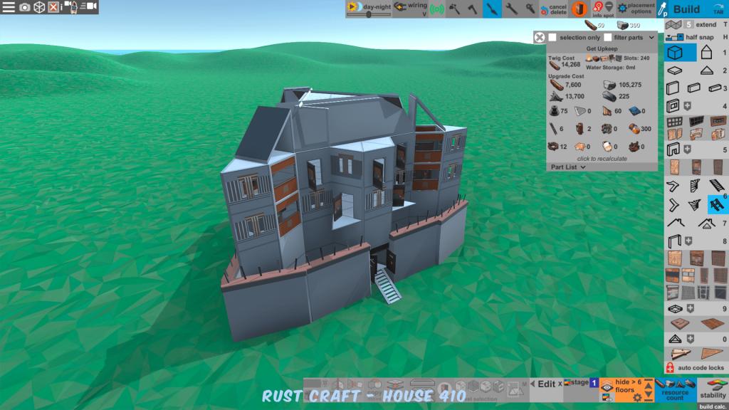 Стоимость улучшения дома Trian в Rust