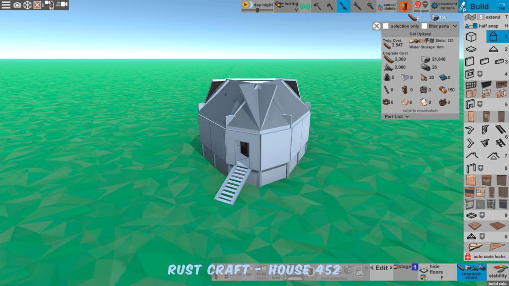 Стоимость улучшения дома Vil в Rust