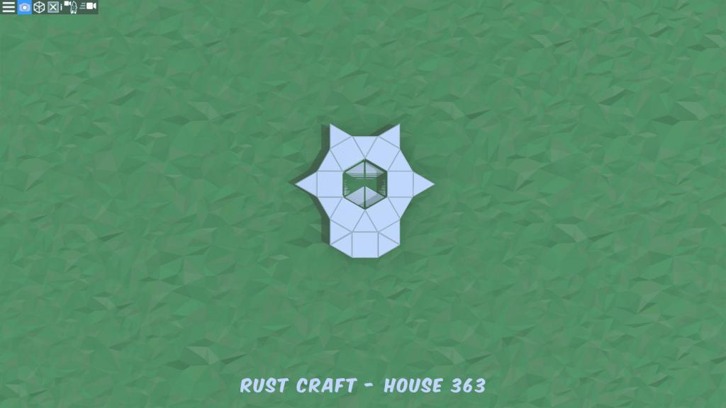 Фундамент дома Fortress4 в Rust