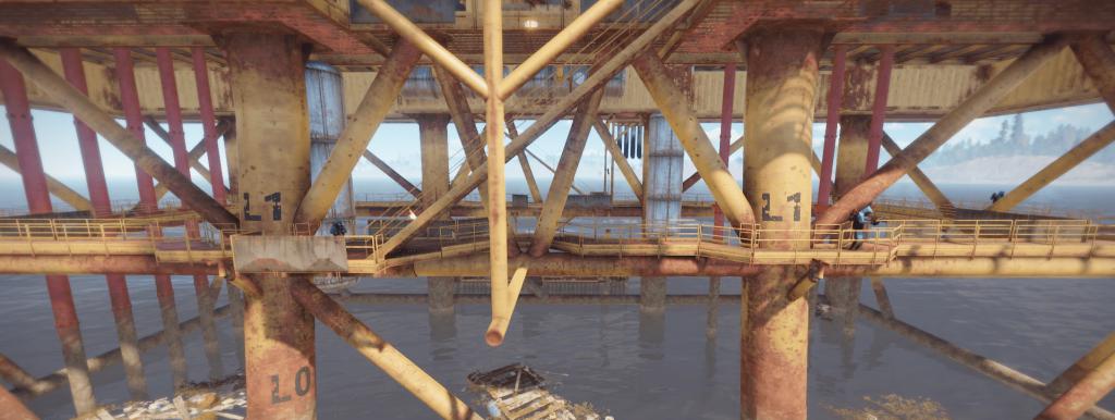 1 уровень большой нефтяной вышки в Rust