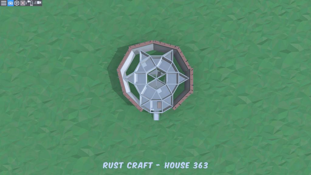 1 этаж дома Fortress4 в Rust