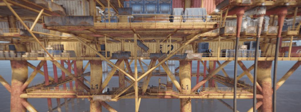 2 уровень большой нефтяной вышки в Rust