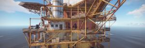 4 уровень большой нефтяной вышки в Rust