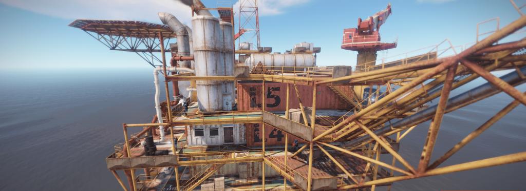 5 уровень большой нефтяной вышки в Rust