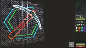 Интерфейс для рисования на неоновых табличках в Rust