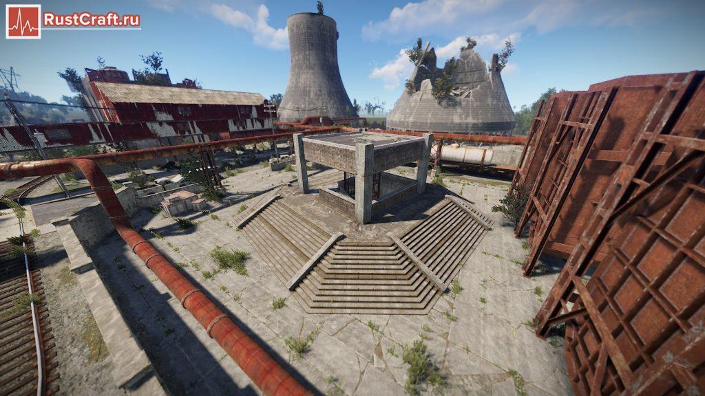 Вход в метро на атомной станции в Rust