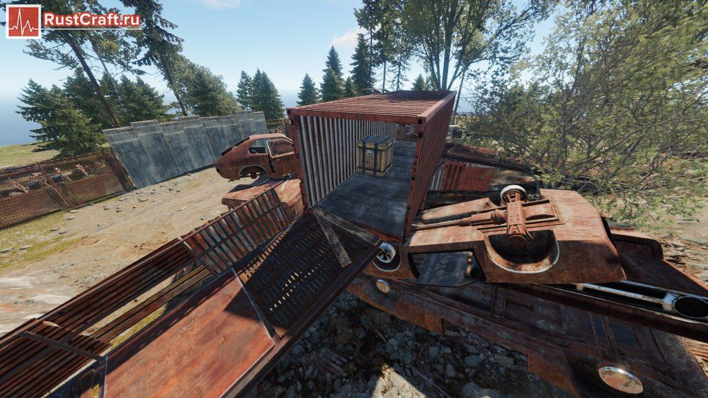 Лут в контейнере на свалке в Rust