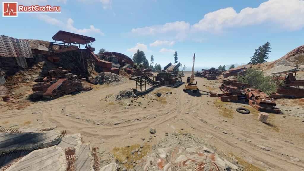 Центр свалки в Rust